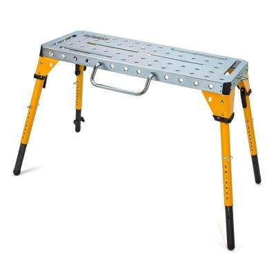 46 in. x 18 in. Adjustable Height Portable Folding Steel Welding Table and Workbench