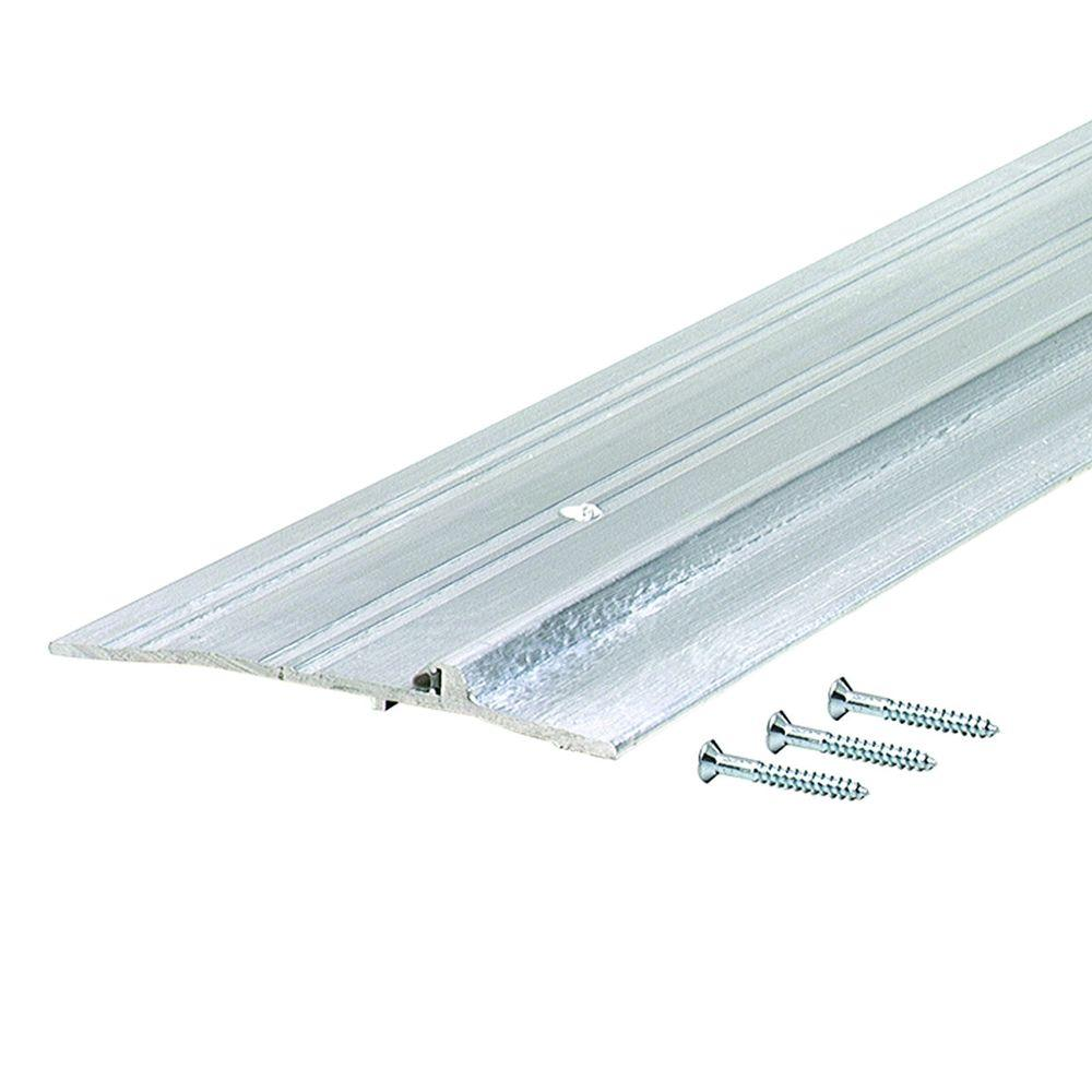 M-D Building Products Panic Exit - Latch Track 5 in. x 75-1/2 in. Aluminum Commercial Threshold