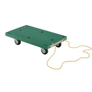 Vestil 500 lb. Capacity 30 inch x 18 inch Plastic Dolly with Rope Pulley by Vestil