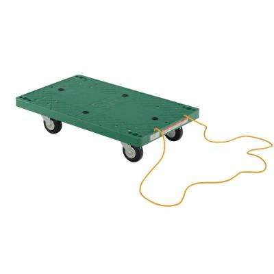 500 lb. Capacity 30 in. x 18 in. Plastic Dolly with Rope Pulley