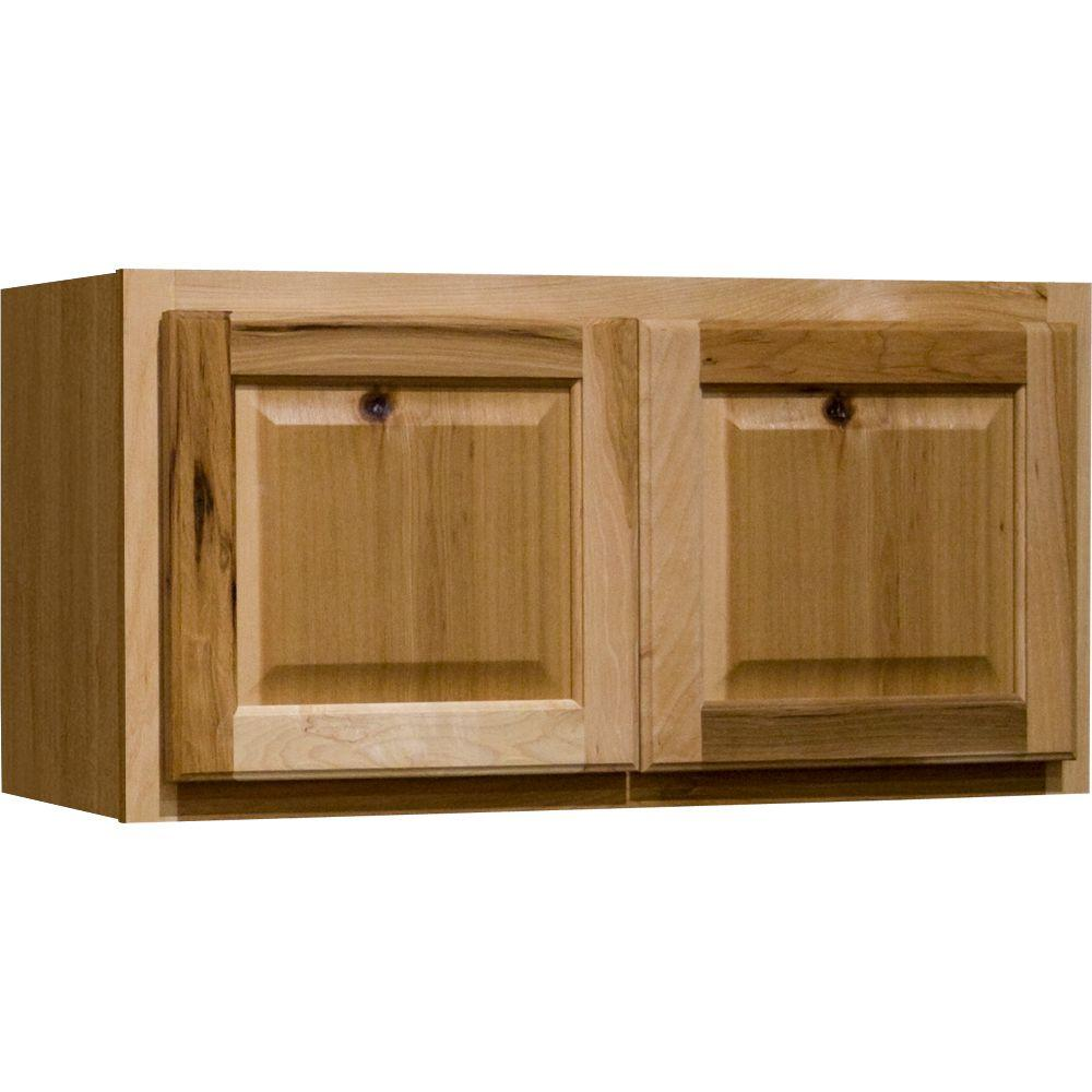 Hampton bay hampton assembled 30x15x12 in wall bridge for Assembled kitchen units