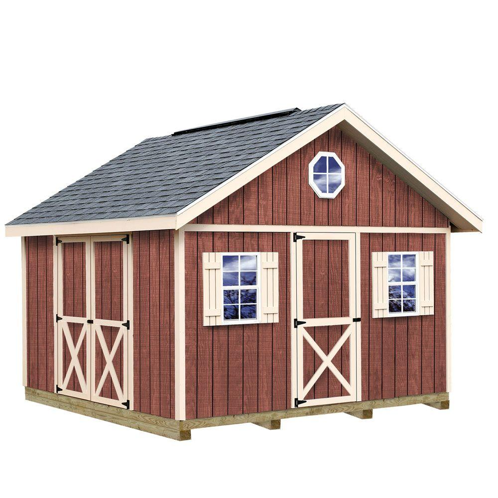 Best Barns Fairview 12 ft. x 12 ft. Wood Storage Shed Kit with Floor including 4 x 4 Runners