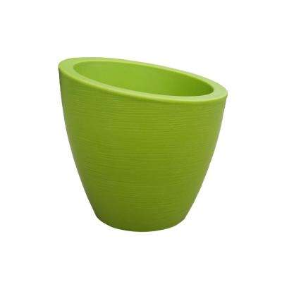 Modesto 20 in. Macaw Green Plastic Planter