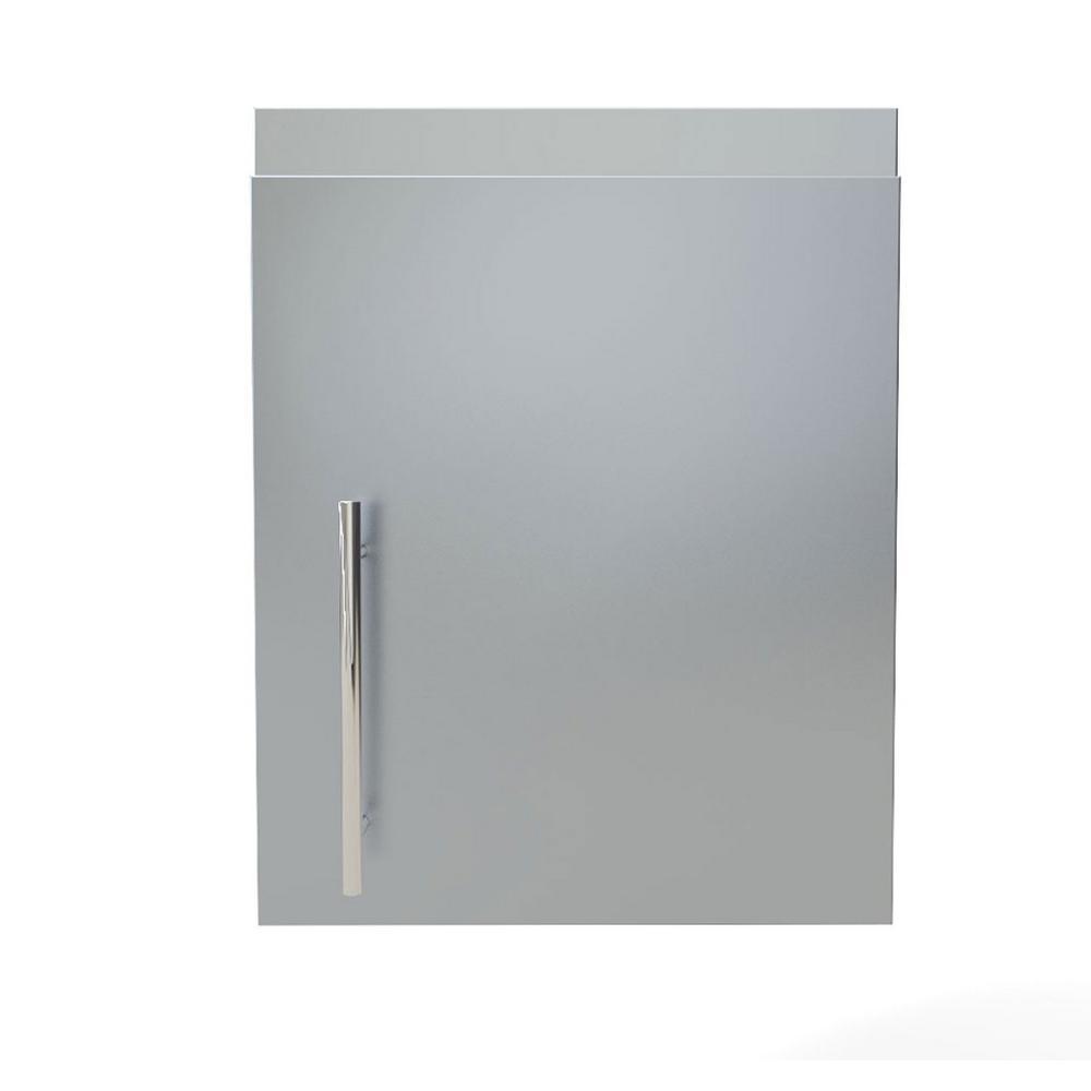Stainless Steel 18 In X 21 14 Outdoor Kitchen Cabinet Upper Wall Right Swing Door