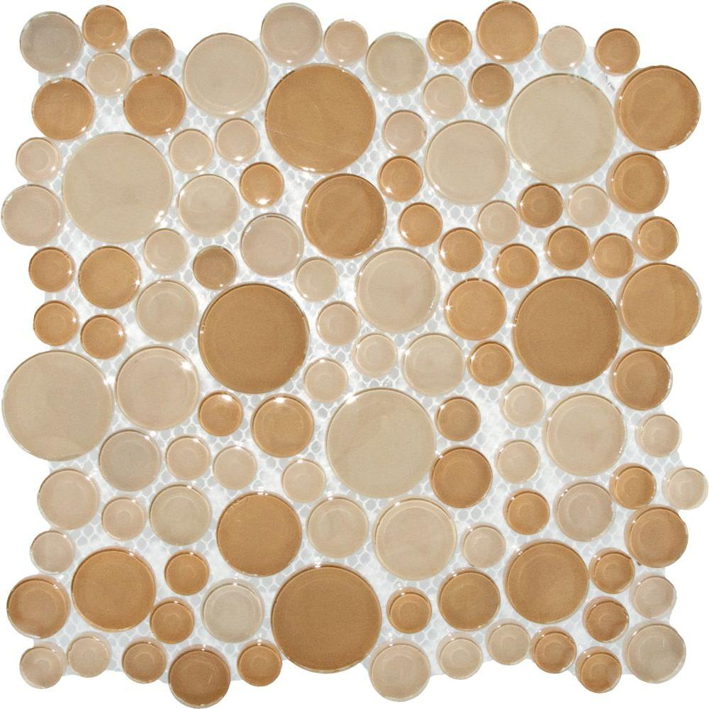 MS International Pebble Beach 12 in. x 12 in. x 8 mm Glass Mesh-Mounted Mosaic Tile