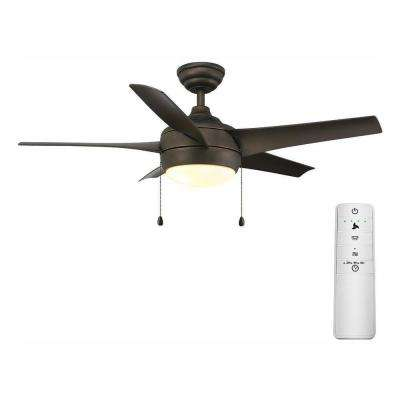 Windward 44 in. LED Oil-Rubbed Bronze Smart Ceiling Fan with Light Kit and WINK Remote Control