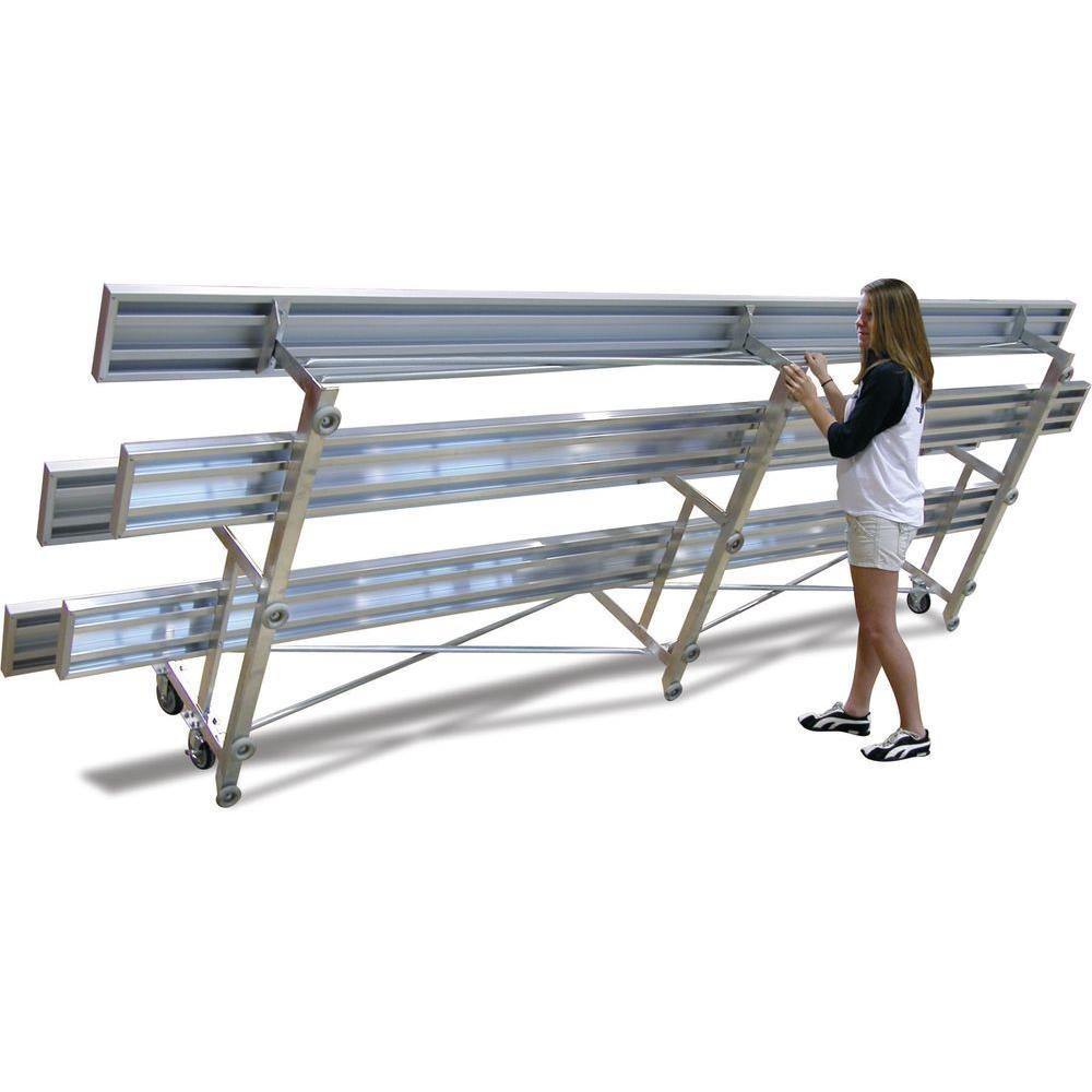 Ultra Play 15 ft. Aluminum Commercial Park Tip N Roll Portable Bleacher