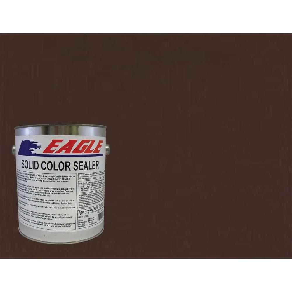 1 gal. Cabernet Brown Solid Color Solvent Based Concrete Sealer