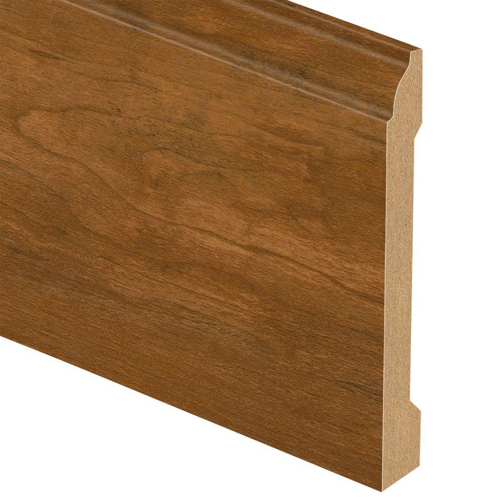 Zamma Pacific Cherry/Rosen Cherry 9/16 in. Thick x 3-1/4 in. Wide x 94 in. Length Laminate Wall Base Molding