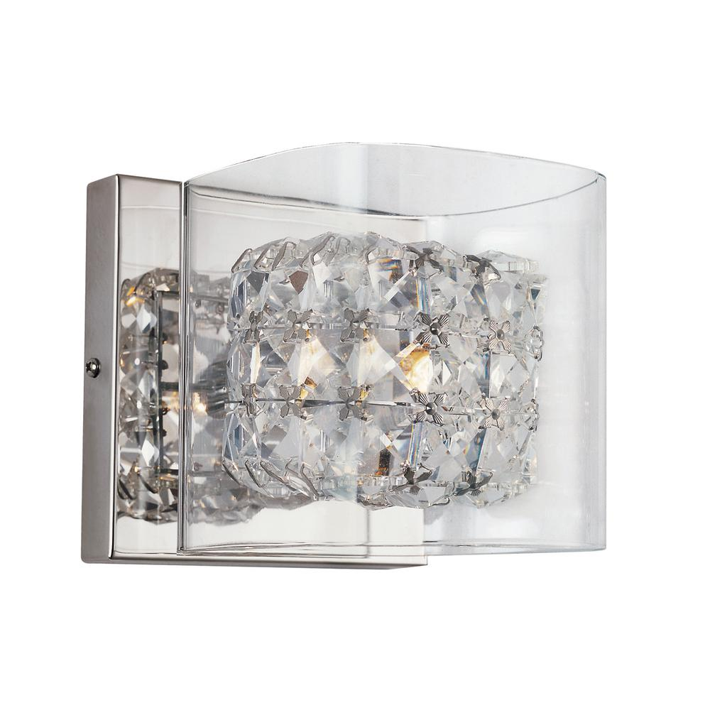 Pauly 1-Light Polished Chrome Sconce