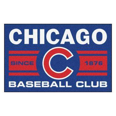 MLB Chicago Cubs Blue 2 ft. x 3 ft. Area Rug