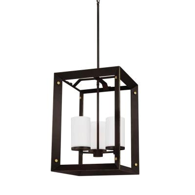 Chatauqua 3-Light Antique Bronze Hall-Foyer Pendant