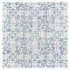 Affinity Notto Cobalto Encaustic 11-3/4 in. x 11-3/4 in. x 6mm Porcelain Mosaic Tile (9.79 sq. ft. / case)
