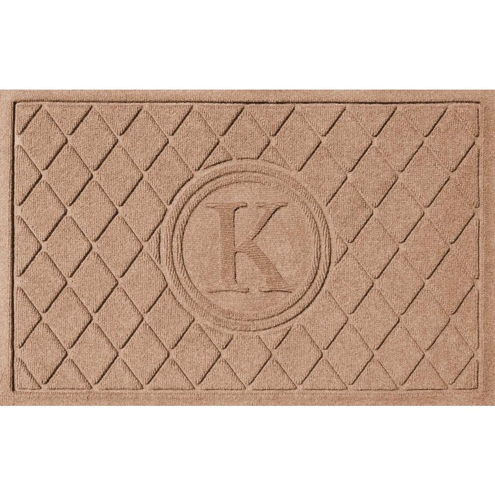 Bungalow Flooring Argyle Medium Brown 24 In. X 36 In. Monogram K Door  Mat 2.0376110023E10   The Home Depot