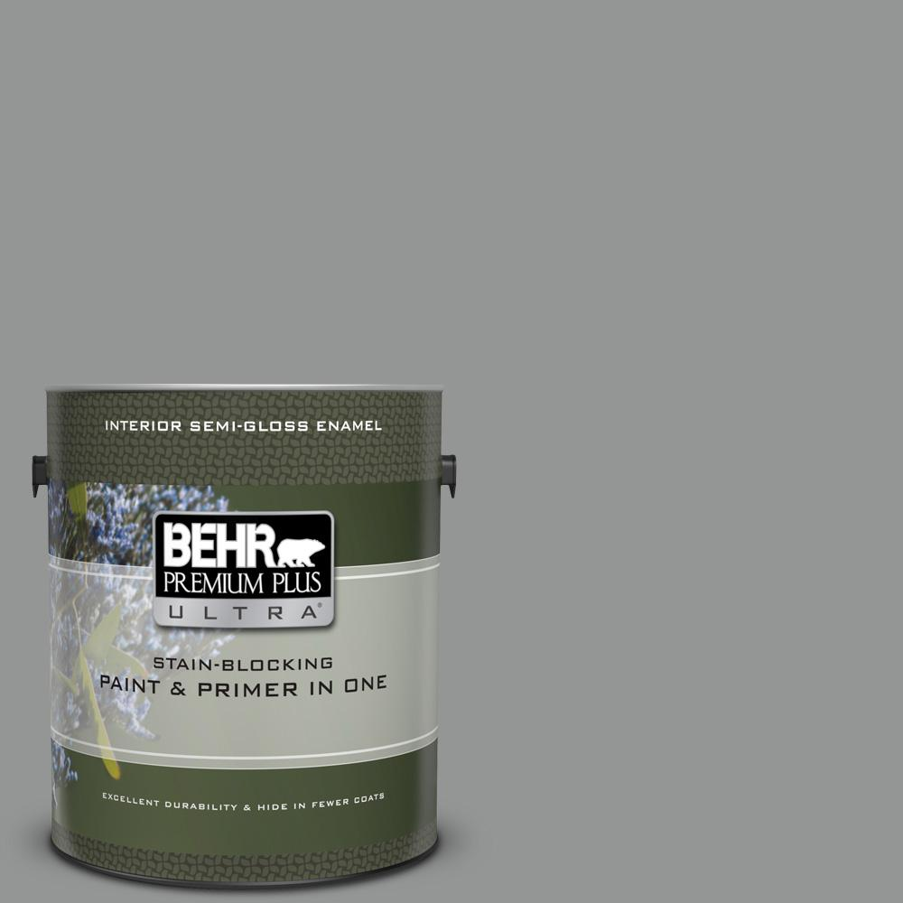 Ppu24 19 Shark Fin Semi Gloss Enamel Interior Paint And Primer In One