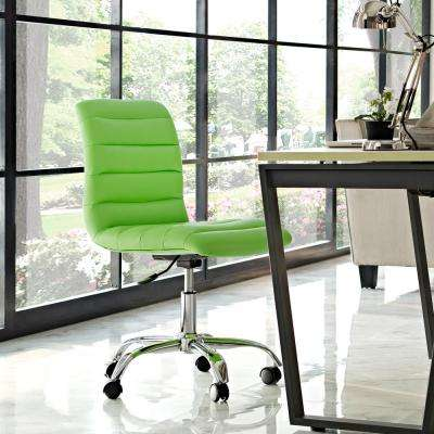 Gentil Ripple Armless Mid Back Office Chair In Bright Green