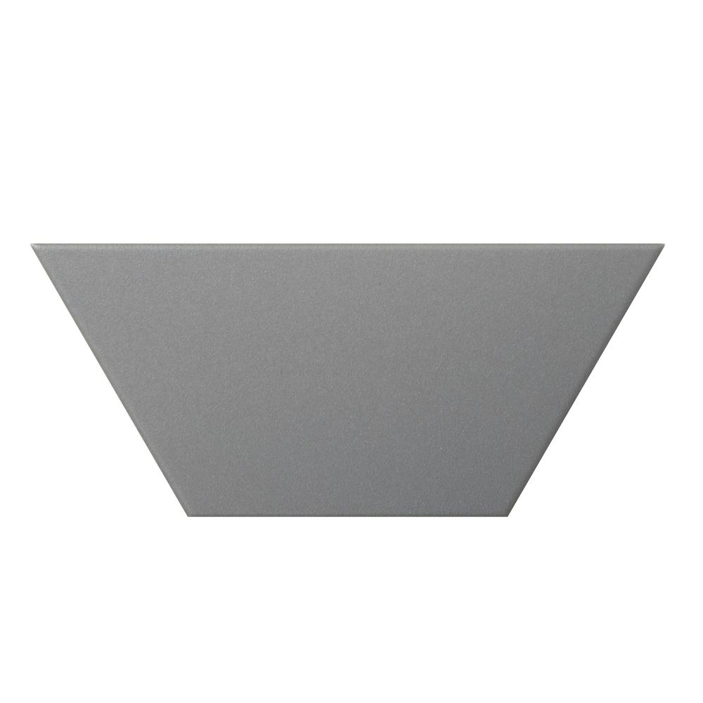 Code Gray Matte 3.94 in. x 9.06 in. Porcelain Floor and