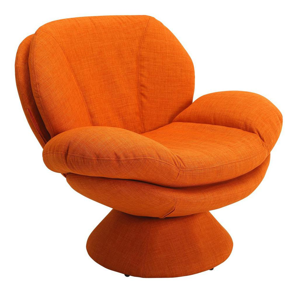 Mac Motion Chairs Comfort Chair Rio Owaga Orange Fabric Leisure