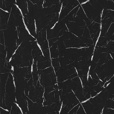 4 ft. x 8 ft. Laminate Sheet in 180fx Nero Marquina with SatinTouch Finish