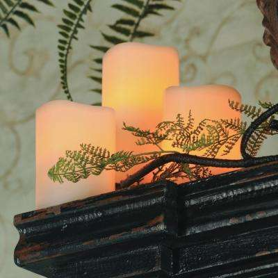 Wavy Bisque LED Pillars Candle (Set of 3)