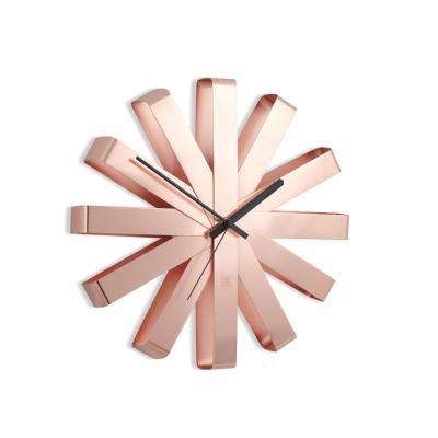 Ribbon 12 in. Copper Wall Clock