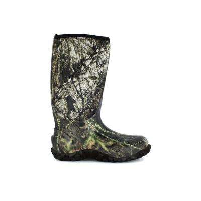 Classic Camo Men's 15 in. Size 17 Mossy Oak Rubber with Neoprene Waterproof Hunting Boot