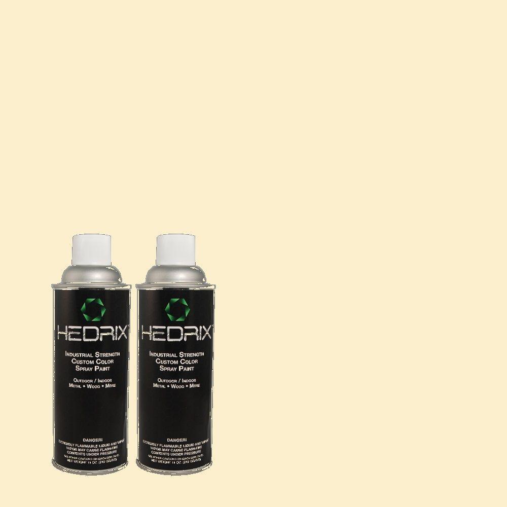 Hedrix 11 oz. Match of 380E-2 Lightning White Flat Custom Spray Paint (2-Pack)