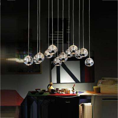 Perrier 12-Light Chrome Chandelier