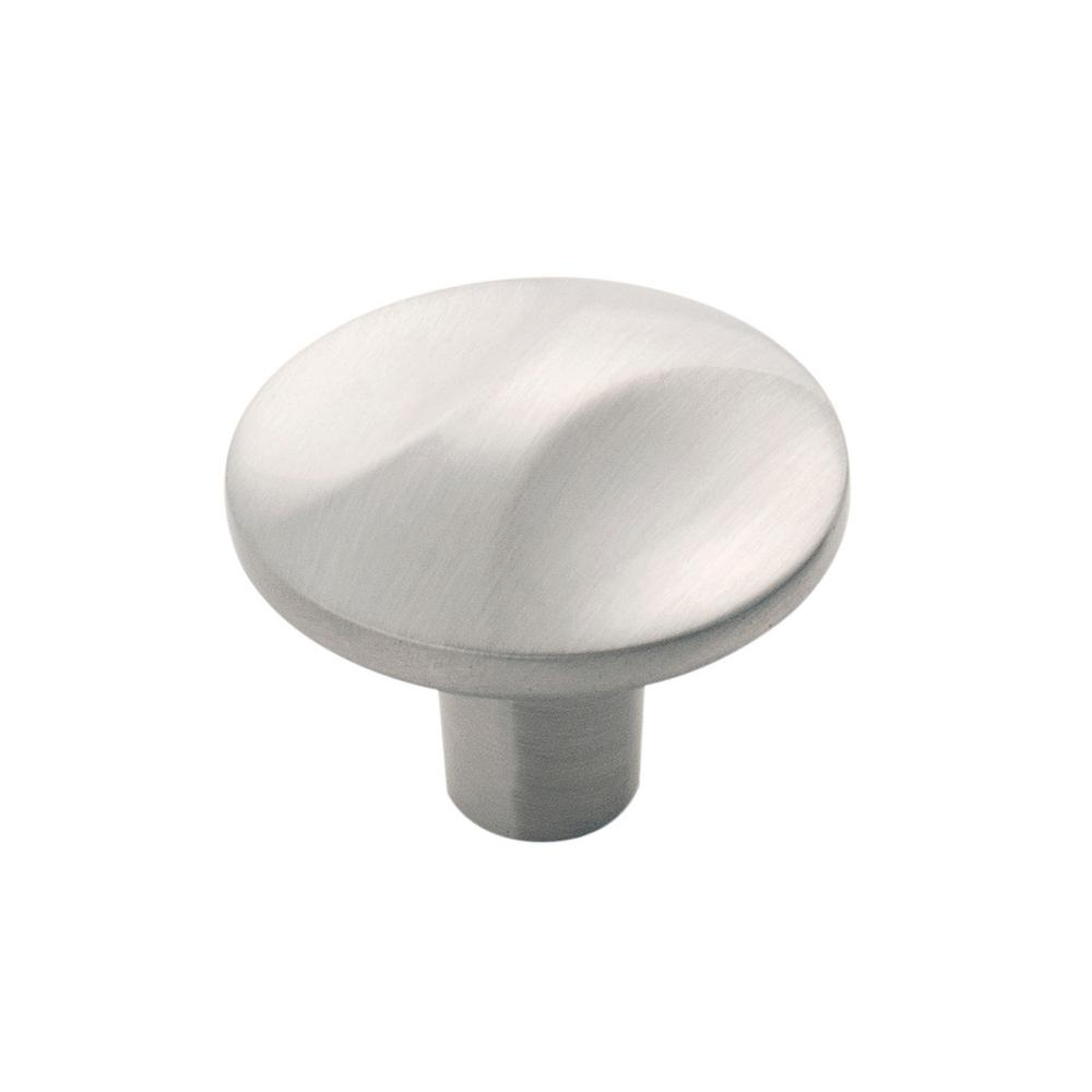 Hickory Hardware Crest Collection 1-1/4 in. Dia Satin Nickel Finish Cabinet Knob