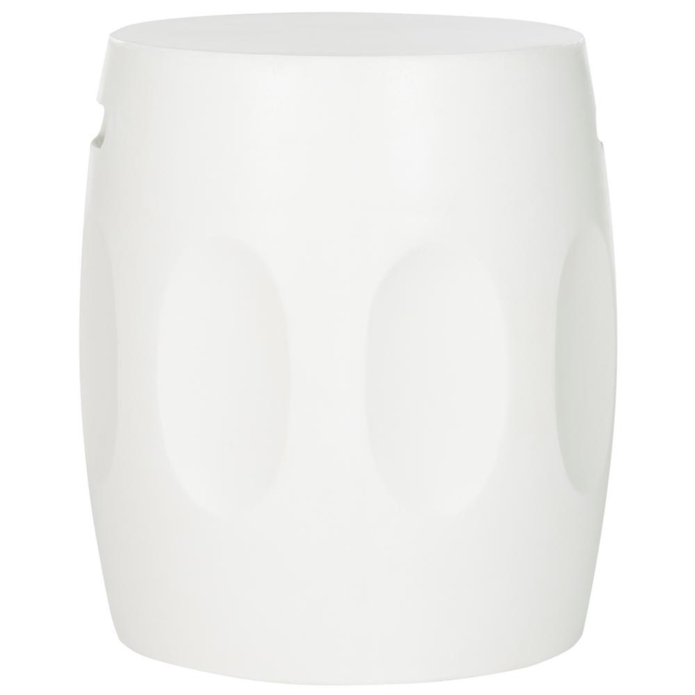 Zuri Ivory Round Stone Indoor/Outdoor Accent Table