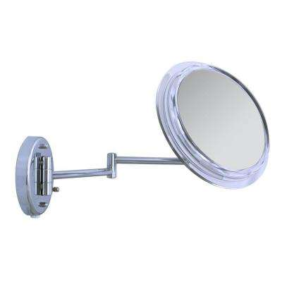 Surround Light 7X Wall Makeup Mirror in Chrome