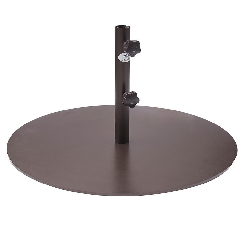 55 lb. Metal Patio Umbrella Base in Bronze