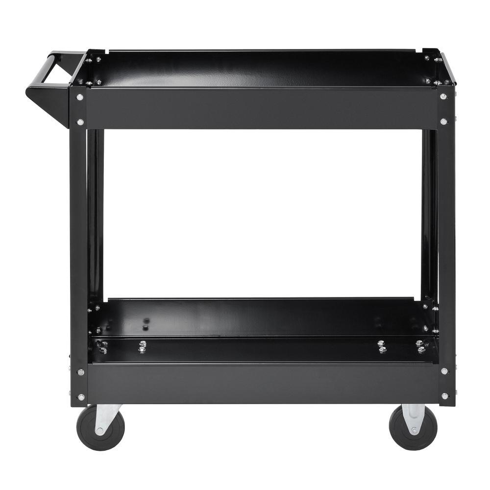 30.5 in. H x 33 in. W x 16 in. D Steel Industrial Commercial Service Cart in Black