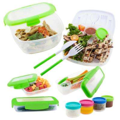 5-Piece Assorted Pack Food Storage in Green