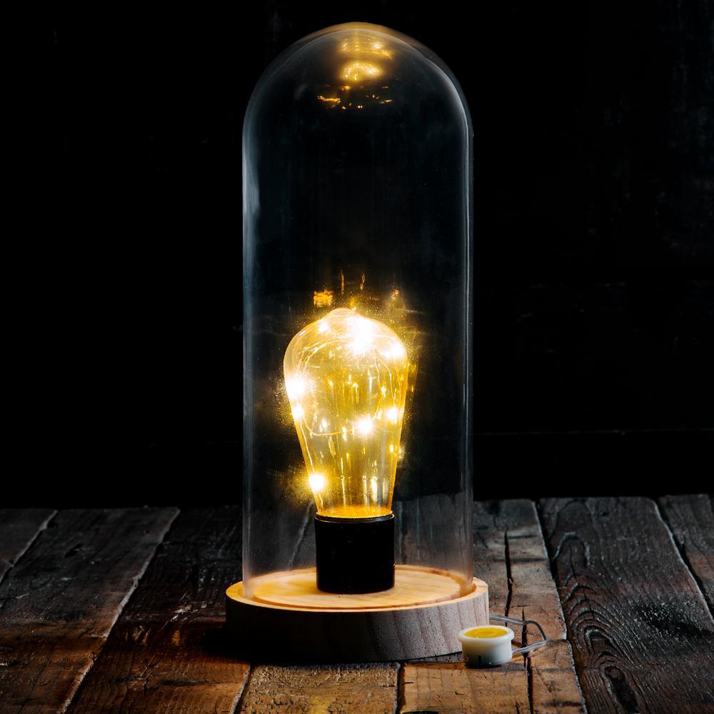 12 .5 in. Antiqued Bulb In Cloche
