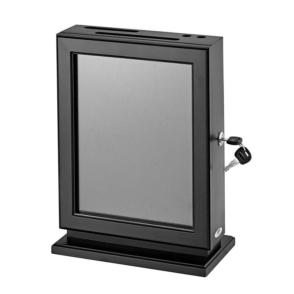 Customizable Wood Suggestion Box, Black