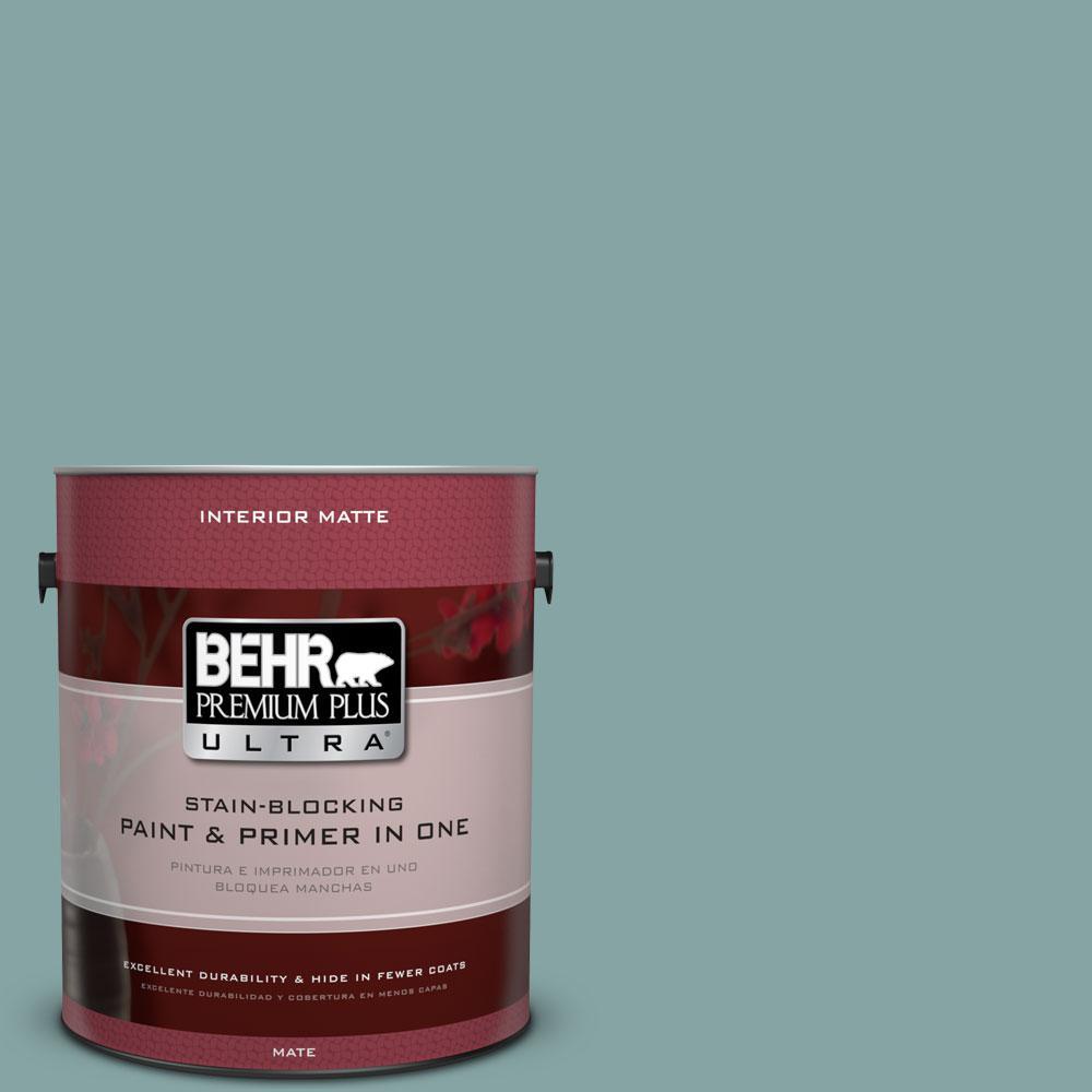 BEHR Premium Plus Ultra 1 gal. #PPU13-8 Venus Teal Flat/Matte Interior Paint
