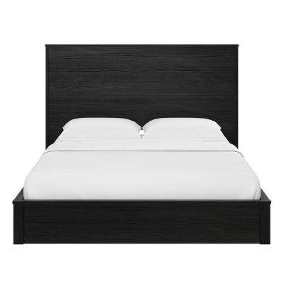 Crescent Point Black Oak Queen Sized Bed and Headboard