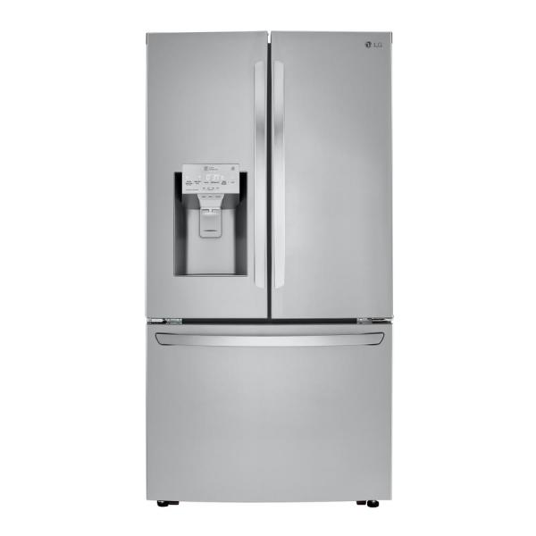LG Electronics 23.5 cu. ft. French Door Refrigerator in Printproof Stainless Steel, Counter Depth