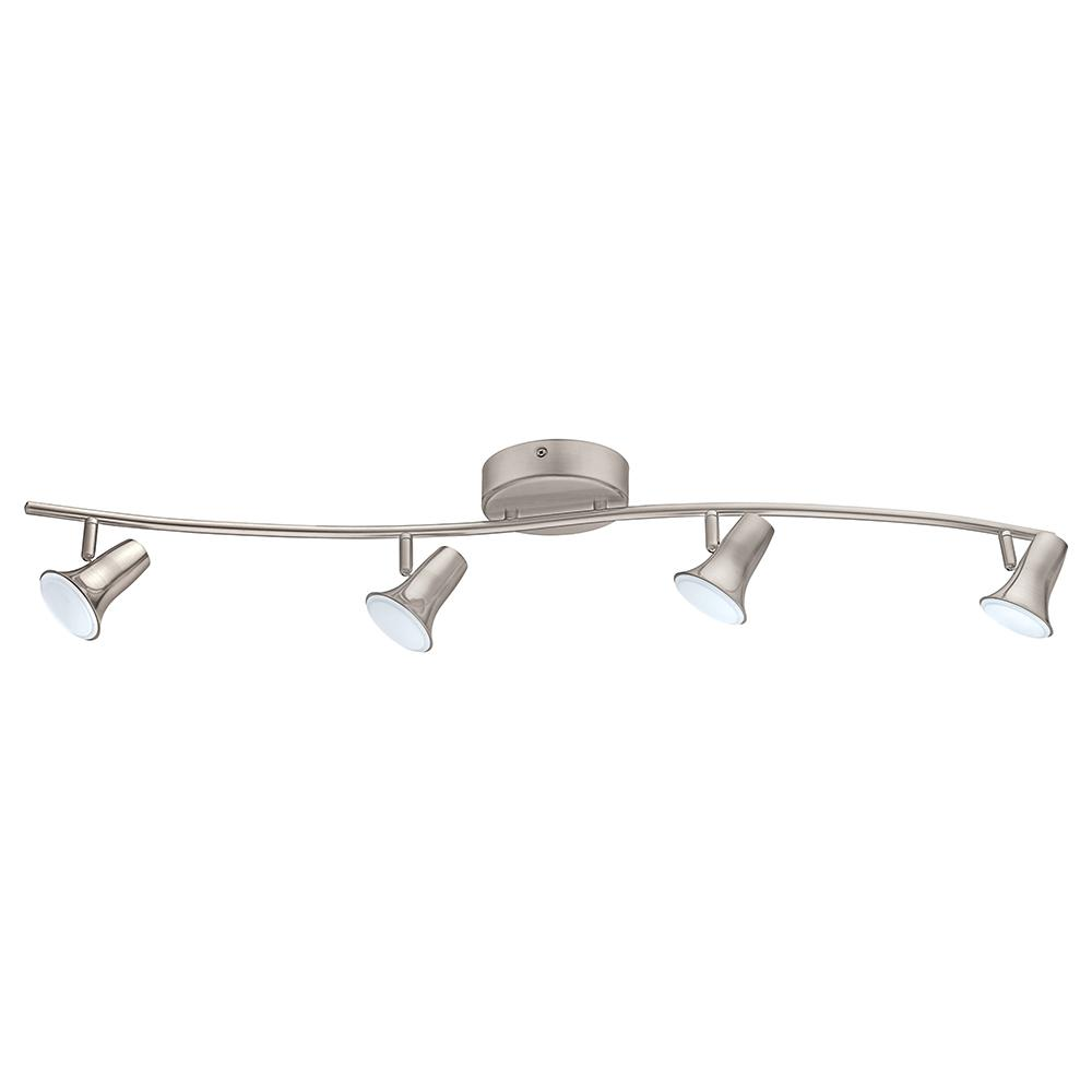 brand new 3e180 0f5bc Jumilla 38.19 in. 4-Light Matte Nickel Dimmable Integrated LED Track  Lighting Kit with Adjustable Heads