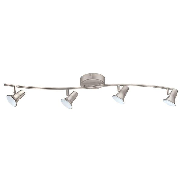 Jumilla 38.19 in. 4-Light Matte Nickel Dimmable Integrated LED Track Lighting Kit with Adjustable Heads