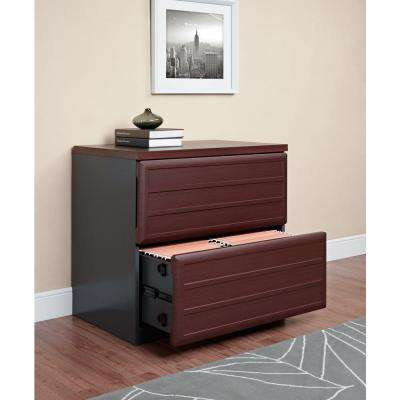Pursuit Cherry and Gray File Cabinet