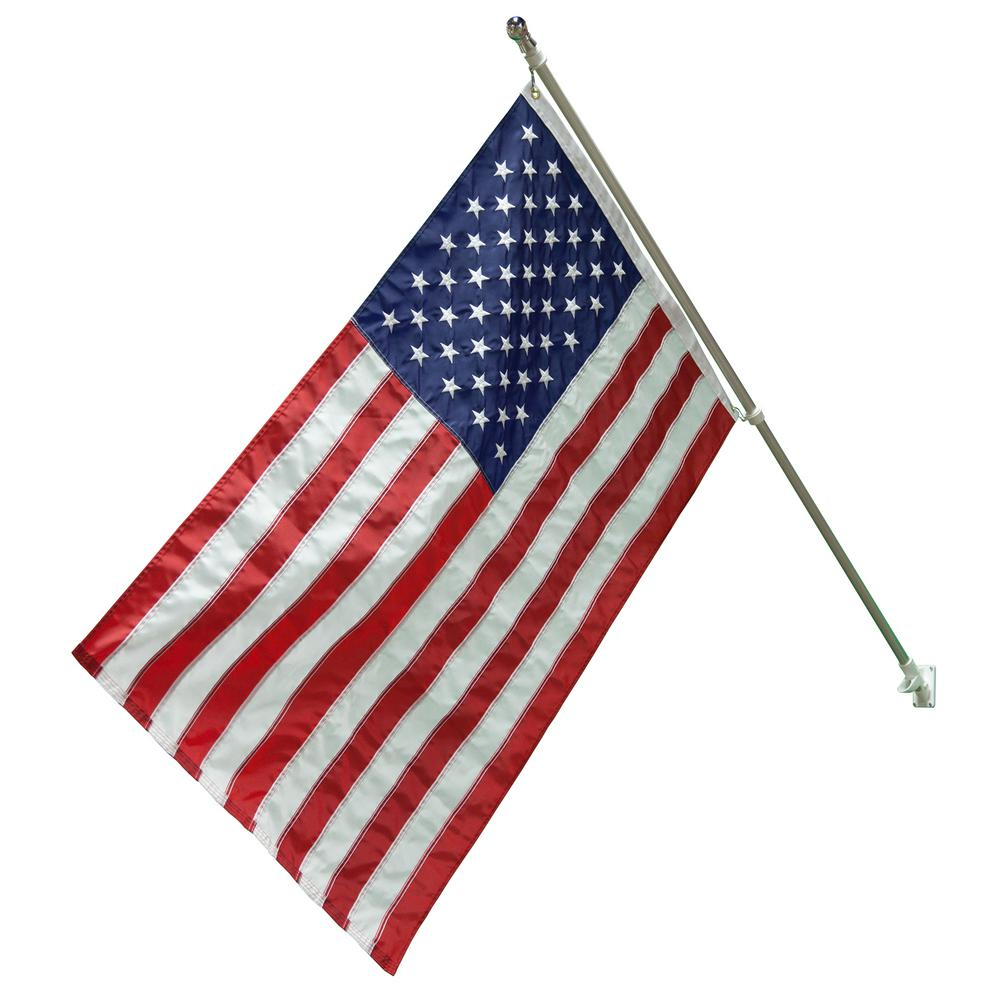 Seasonal Designs 6 Ft X 1 1 4 In Dia Flag Pole Set And 3