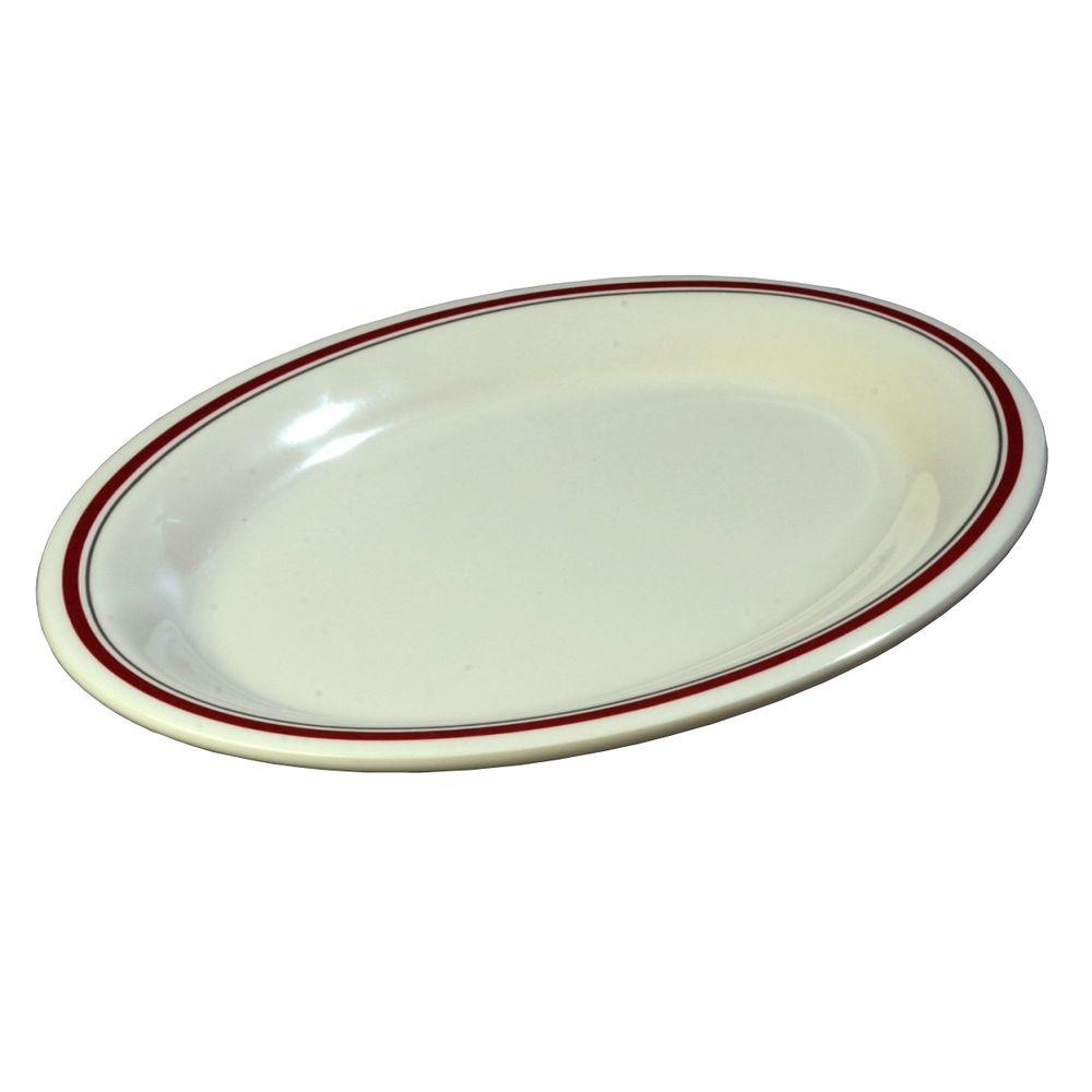 9 in. x 12 in. Melamine Oval Platter in Morocco Bone