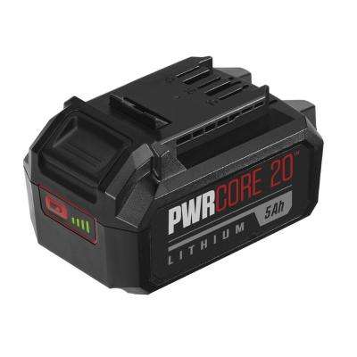PWRCORE 20-Volt Lithium-ion 5.0 Ah Battery with Fuel Gauge