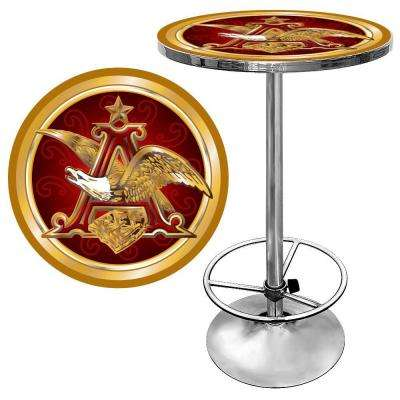 Budweiser A and Eagle Chrome Pub/Bar Table