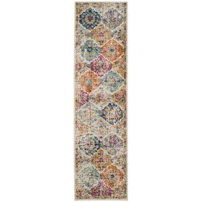 Madison Cream/Multi 2 ft. 3 in. x 20 ft. Runner Rug