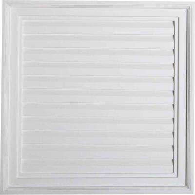 24 in. x 24 in. Decorative Vertical Louver Gable Vent