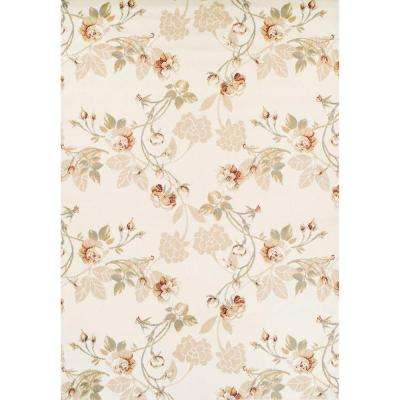 Ferrera Collection Tan Lily Multicolored 5 ft. x 8 ft. Area Rug