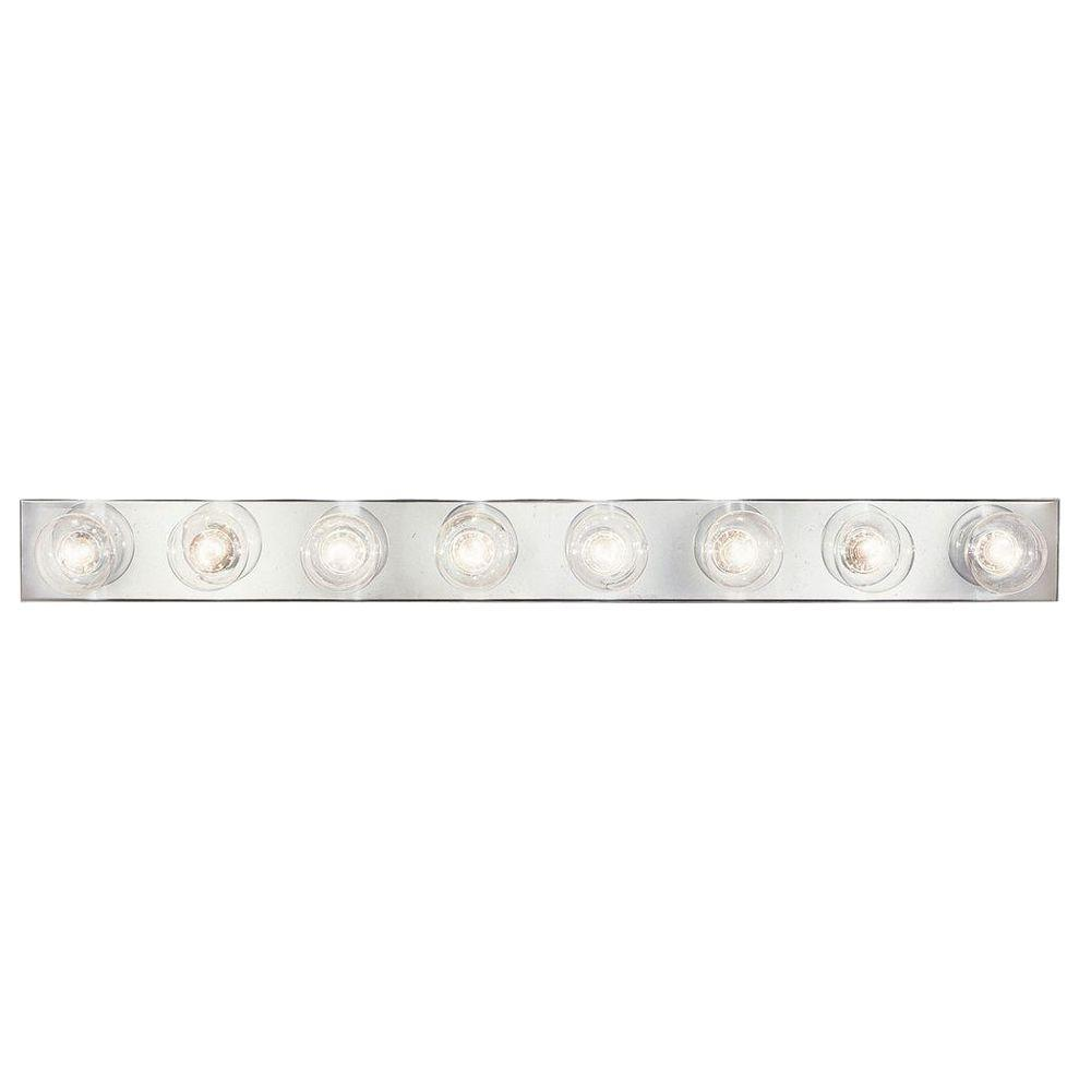Reviews For Progress Lighting Broadway Collection 8 Light Chrome Bathroom Vanity Light P3300 15 The Home Depot